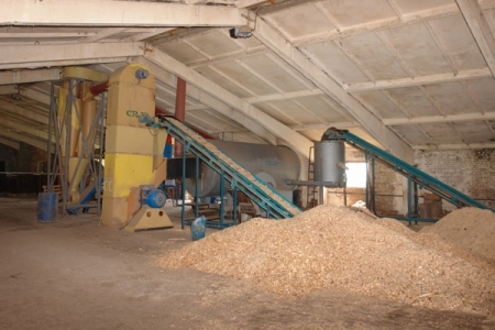 Factory on manufacture of fuel briquettes in Yarinovka